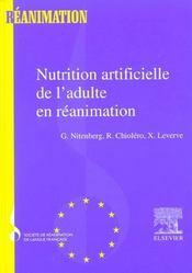 Nutrition Artificielle De L'Adulte En Reanimation - Srlf - Intérieur - Format classique