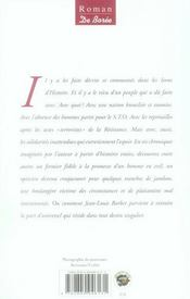 Chocolat Des Temps Amers (Le) - 4ème de couverture - Format classique