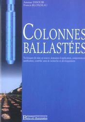 Colonnes balastees ; techniques de mise en oeuvre, domaine d'application - Intérieur - Format classique