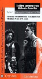 Theatre Contemporain Wb - T1 - Couverture - Format classique