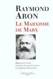 Le marxisme de marx - Couverture - Format classique