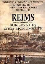 Reims, Essais Historiques Sur Ses Rues Et Ses Monuments - Couverture - Format classique