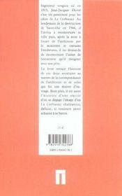 Le Corbusier, l'écorce et la fleur - 4ème de couverture - Format classique