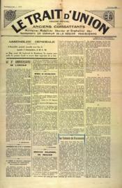 Trait D'Union (Le) N°8 du 01/11/1934 - Couverture - Format classique