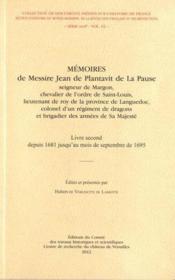 Memoires de messire jean de plantavit - Couverture - Format classique