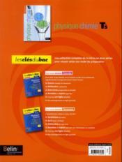 Physique chimie ; terminale S ; enseignement de spécialité ; manuel de l'élève - 4ème de couverture - Format classique