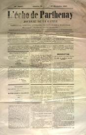 Echo De Parthenay (L') N°48 du 01/12/1867 - Couverture - Format classique