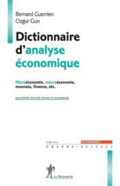 Dictionnaire d'analyse économique - Couverture - Format classique