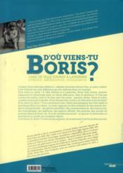 D'où viens-tu Boris ? Vian, de Ville d'Avray à Landemer ; enfance, adolescence, insousciance (1920-1939) - 4ème de couverture - Format classique
