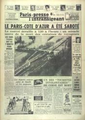 Paris Presse L'Intransigeant N°4741 du 10/03/1960 - Couverture - Format classique