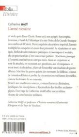 L'armée romaine - 4ème de couverture - Format classique