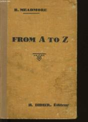 From A To Z - Couverture - Format classique