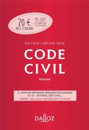 Vente  Code civil annoté (édition 2018)  - ** - Collectif