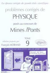 Problemes Corriges De Physique Mines/Ponts Tome 9 2003-2004 - Intérieur - Format classique