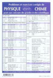 Problemes Corriges De Physique Mines/Ponts Tome 9 2003-2004 - 4ème de couverture - Format classique