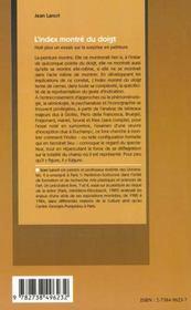 L'Index Montre Du Doigt ; Huit Plus Un Essai Sur La Surprise En Peinture - 4ème de couverture - Format classique