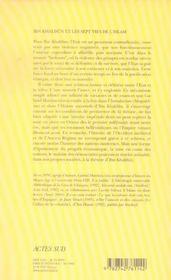 Ibn Khaldun Et Les Sept Vies De L'Islam - 4ème de couverture - Format classique