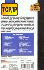 Le Tout En Poche Tcp-Ip - 4ème de couverture - Format classique