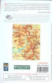 La grande traversée des Alpes et le tour de l'Ubaye ; 04-73-05-GR5-GR56-531 - 4ème de couverture - Format classique