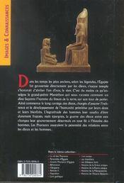 Egypte Des Dieux Et Deesses (L') - 4ème de couverture - Format classique