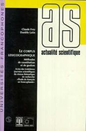 Corpus Lexicographique - Couverture - Format classique