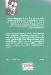 Gouverneurs de la rosée - 4ème de couverture - Format classique