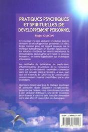 Pratiques psychiques et spirituelles de développement personnel - 4ème de couverture - Format classique