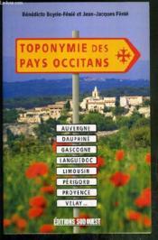 Toponymie Des Pays Occitans - Couverture - Format classique