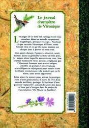 Le Journal Champetre De Veronique - 4ème de couverture - Format classique