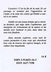 Les contes d'Emilie, une nuit - 4ème de couverture - Format classique