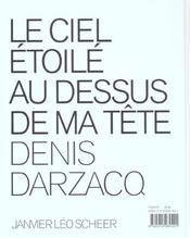 Le Ciel Etoile Au Dessus De Ma Tete - 4ème de couverture - Format classique