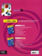 Chimie ; terminale S ; enseignement spécifique ; manuel de l'élève - 4ème de couverture - Format classique
