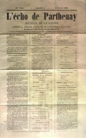 Echo De Parthenay (L') N°5 du 02/02/1868 - Couverture - Format classique