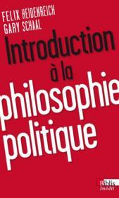 Introduction à la philosophie politique - Couverture - Format classique