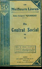 Du Contrat Social Ou Principes Du Droit Politique - Tome 2 - Couverture - Format classique