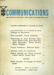 Communications - Couverture - Format classique