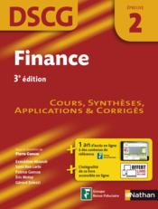 Vente livre :  Finance 3ed epreuve 2 dscg - cours, syntheses, applications & corriges 2016  - Collectif