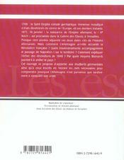 L'Allemagne De 1789 A 1870 - 4ème de couverture - Format classique