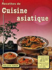 Cuisine asiatique - Couverture - Format classique
