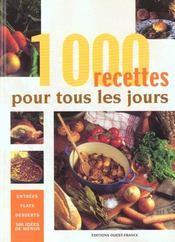 1000 recettes pour tous les jours - Intérieur - Format classique