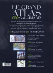Le grand atlas geo-gallimard pour le 21e siecle - 4ème de couverture - Format classique