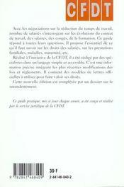 Salaries ; Guide De Vos Droits 2001 - 4ème de couverture - Format classique
