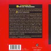 Essentiel Du Droit De L'Urbanisme - 4ème de couverture - Format classique