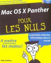 Mac os x panther pour les nuls - Intérieur - Format classique