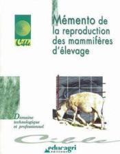Memento de la reproduction des mammifères d'élevage (édition 2002) - Couverture - Format classique