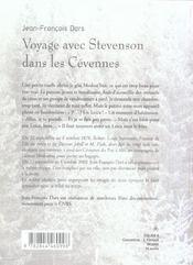 Voyage Avec Stevenson Dans Les Cevennes - 4ème de couverture - Format classique