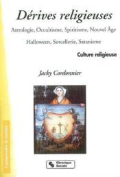 Derives Religieuses - Couverture - Format classique