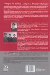 Pratique Des Normes Ifrs Par La Profession Bancaire - 4ème de couverture - Format classique