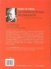 Le collectionneur de passants et autres disparitions - 4ème de couverture - Format classique