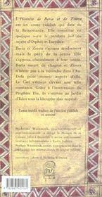 Beria et zimra - 4ème de couverture - Format classique